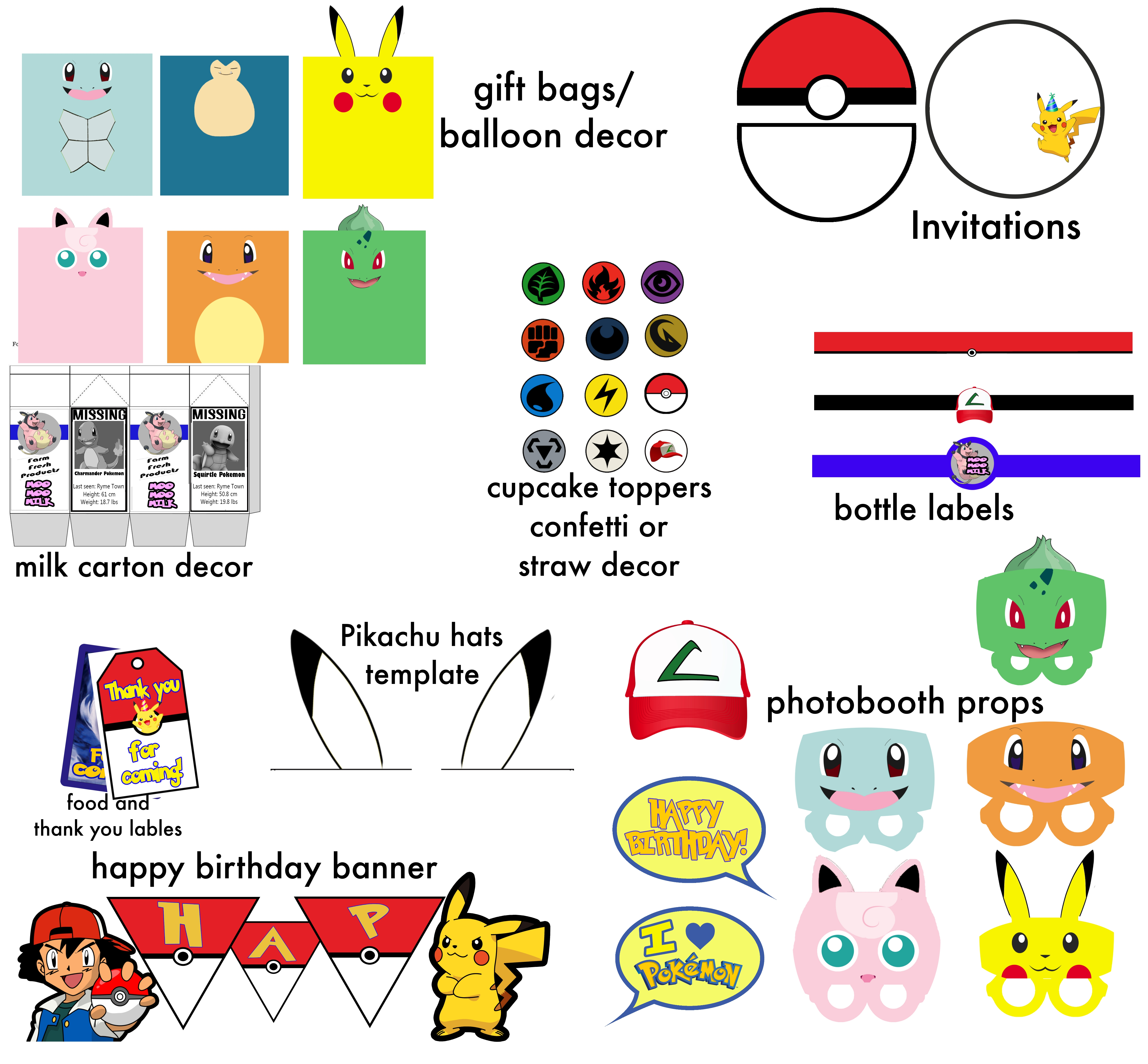 image regarding Pokemon Cupcake Toppers Printable named Do-it-yourself Pokemon Transfer Detective Pikachu Bash! Do-it-yourself Functions Channel